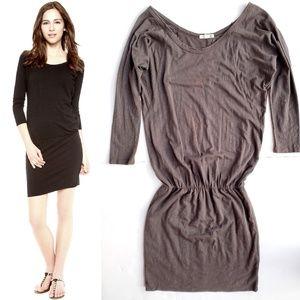 Sundry Dresses - Sundry Long Sleeve Dress in Charcoal Gray